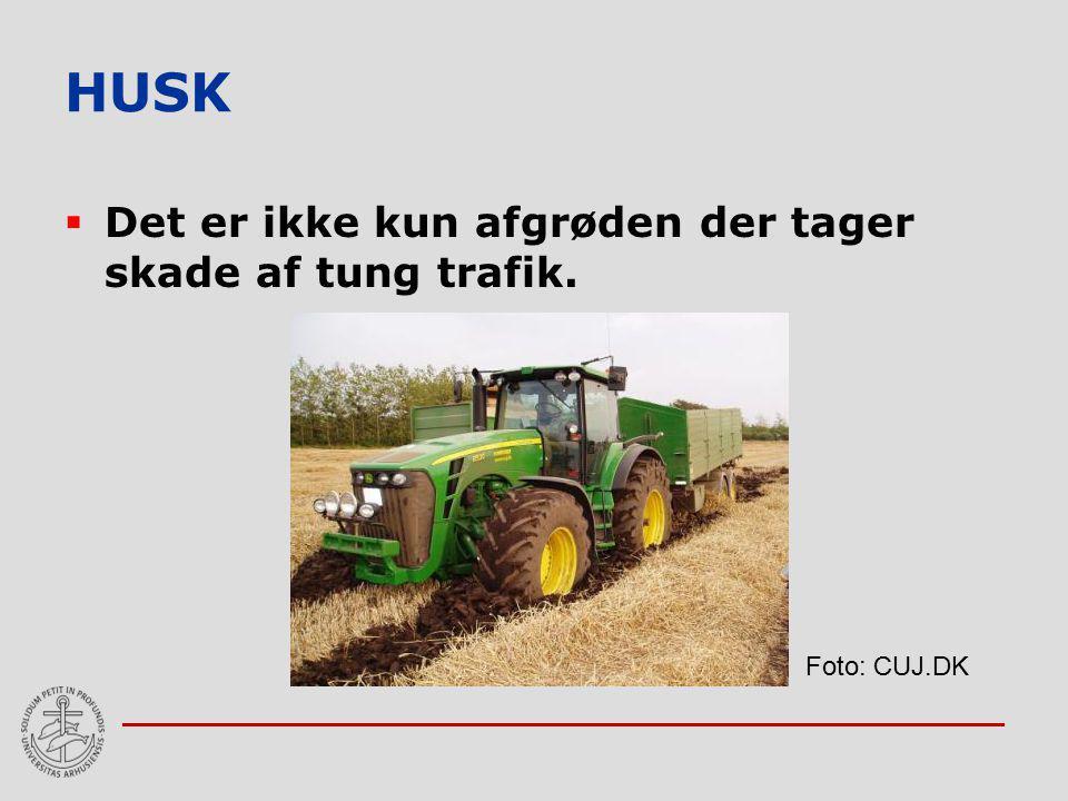 HUSK Det er ikke kun afgrøden der tager skade af tung trafik.
