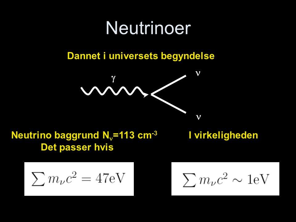 Neutrinoer Dannet i universets begyndelse   
