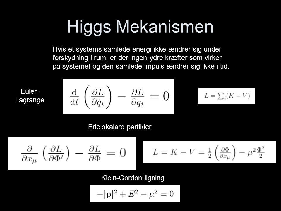Higgs Mekanismen Hvis et systems samlede energi ikke ændrer sig under
