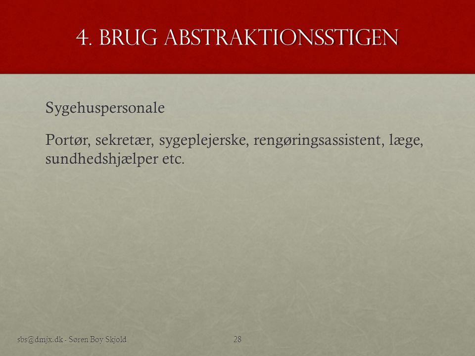 4. Brug abstraktionsstigen