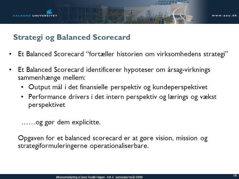 Strategi og Balanced Scorecard