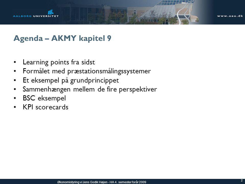Agenda – AKMY kapitel 9 Learning points fra sidst