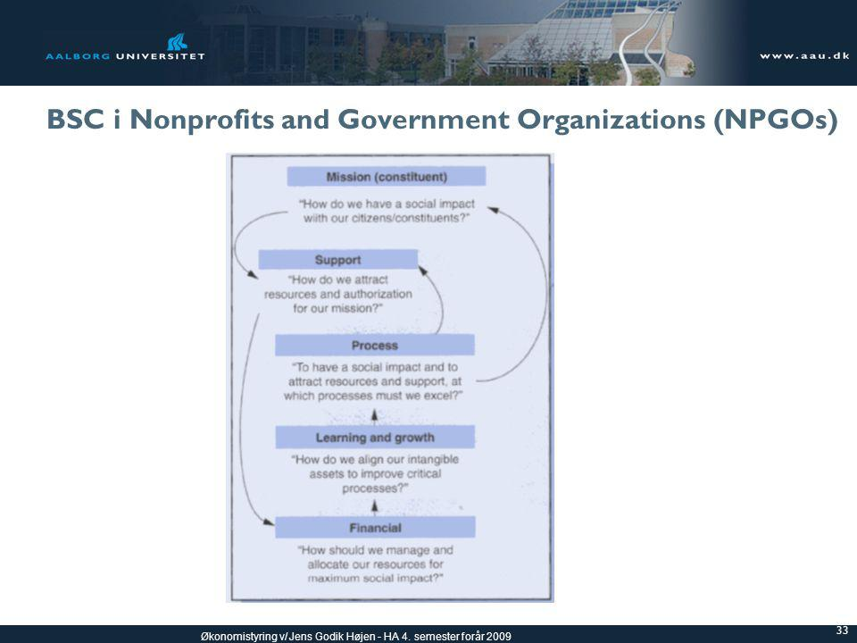 BSC i Nonprofits and Government Organizations (NPGOs)