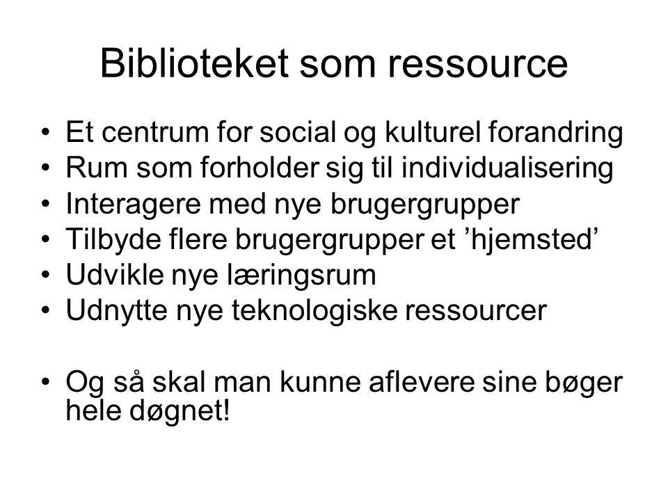 Biblioteket som ressource