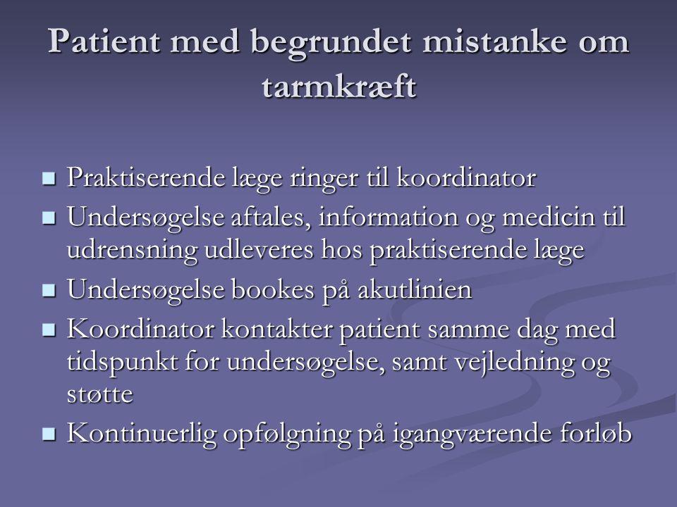 Patient med begrundet mistanke om tarmkræft