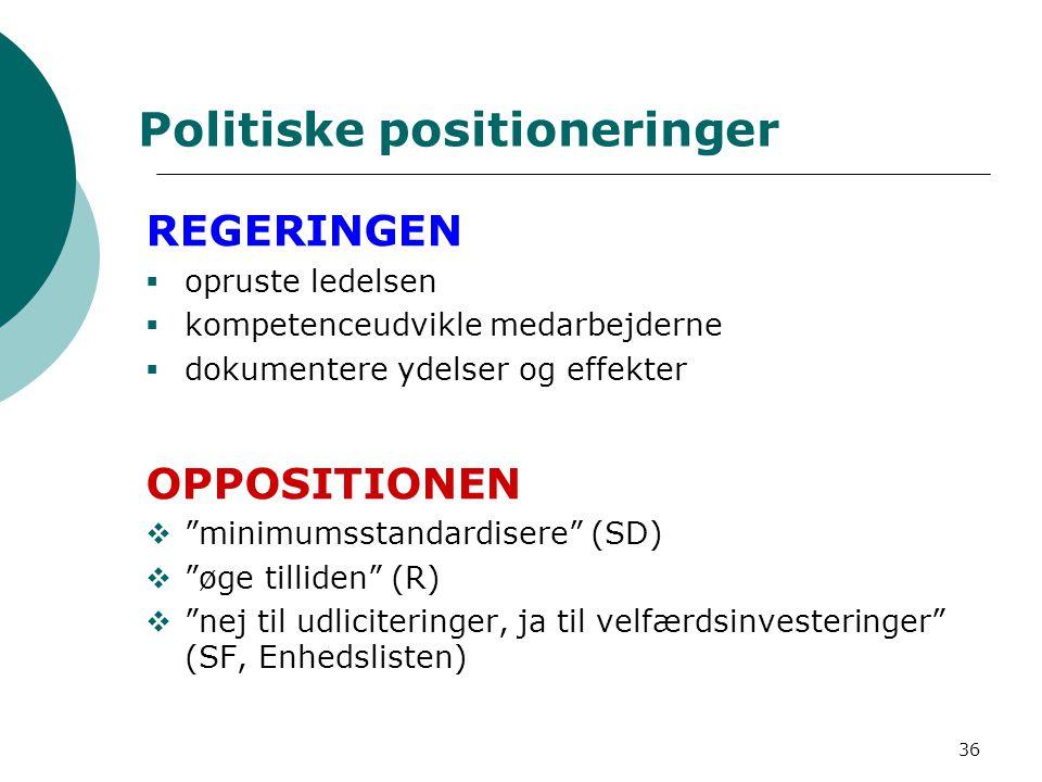 Politiske positioneringer