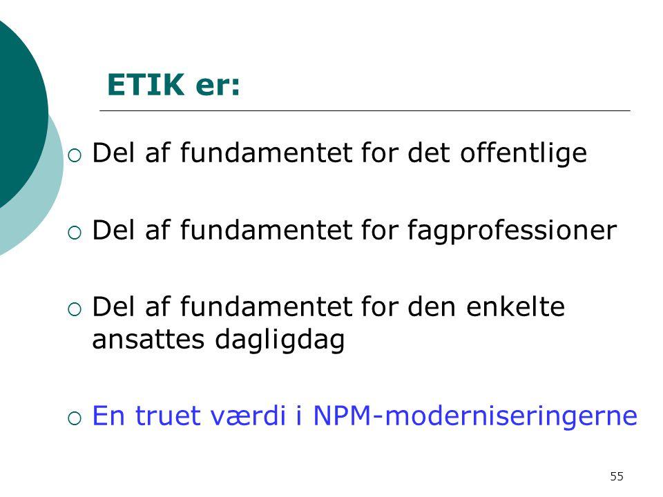 ETIK er: Del af fundamentet for det offentlige