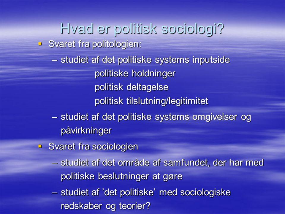 Hvad er politisk sociologi