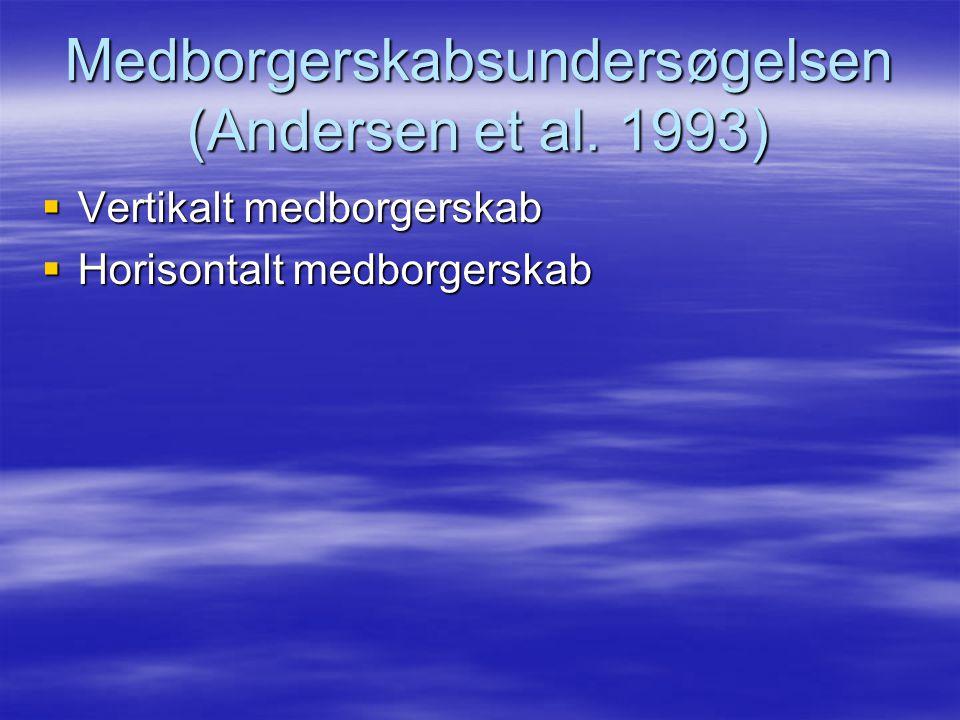 Medborgerskabsundersøgelsen (Andersen et al. 1993)