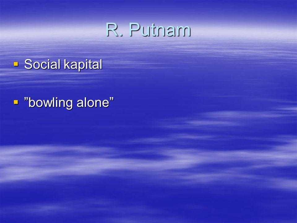 R. Putnam Social kapital bowling alone