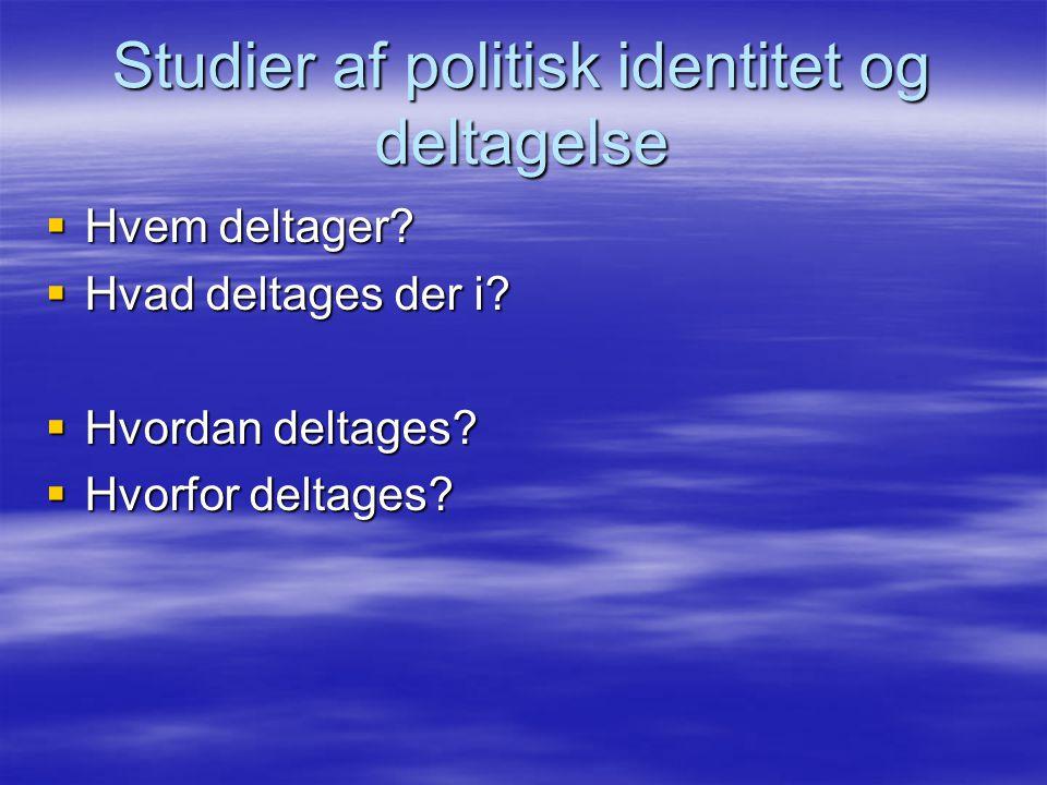 Studier af politisk identitet og deltagelse