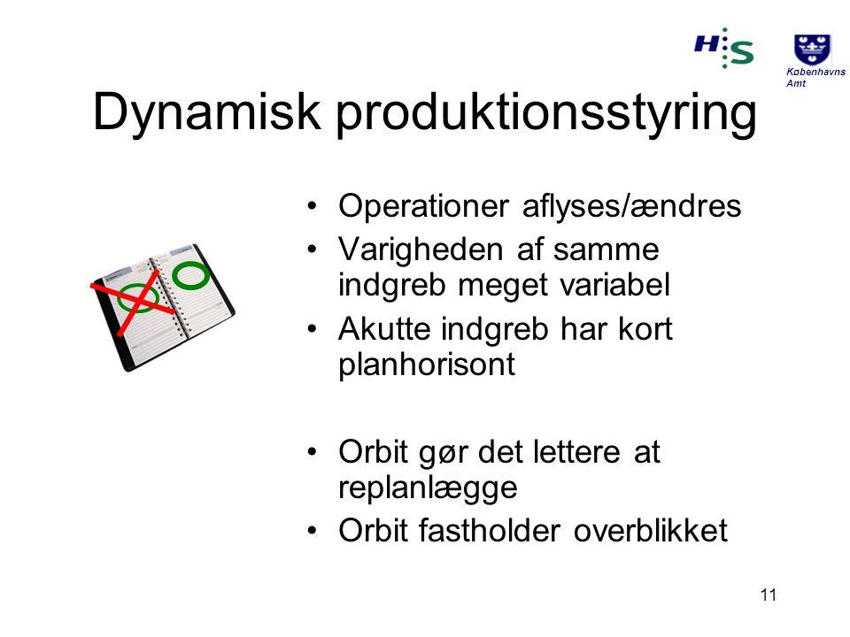 Dynamisk produktionsstyring