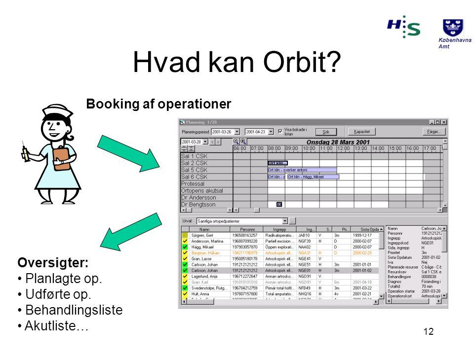 Hvad kan Orbit Booking af operationer Oversigter: Planlagte op.