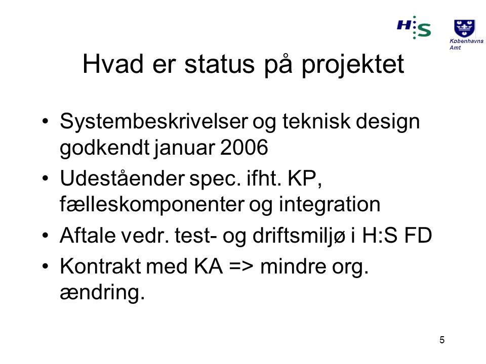 Hvad er status på projektet