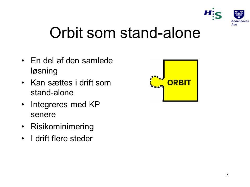 Orbit som stand-alone En del af den samlede løsning