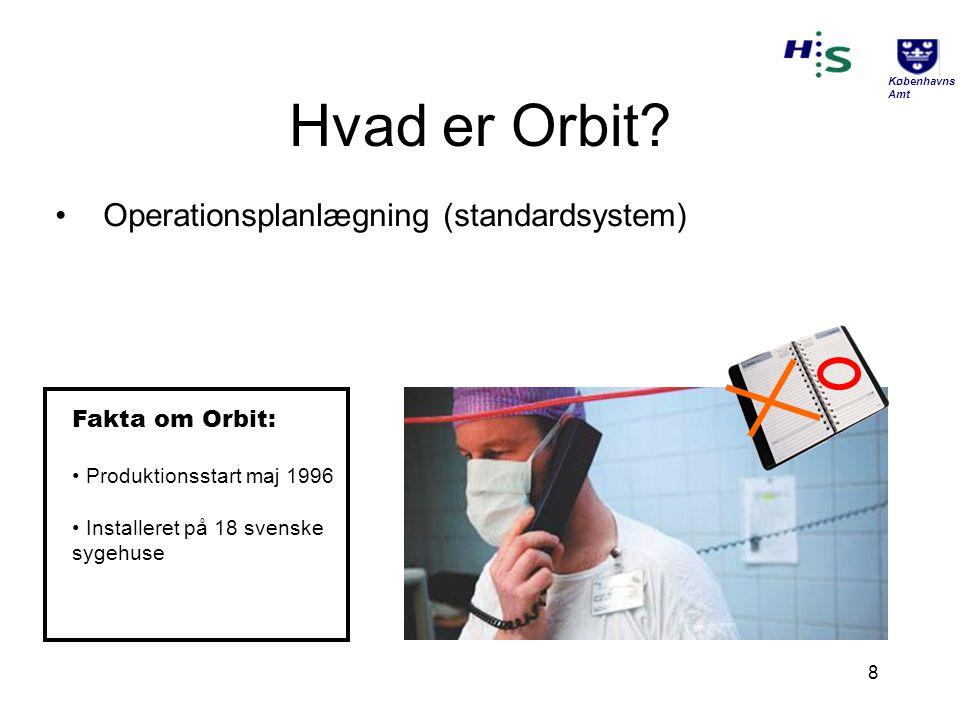 Hvad er Orbit Operationsplanlægning (standardsystem) Fakta om Orbit: