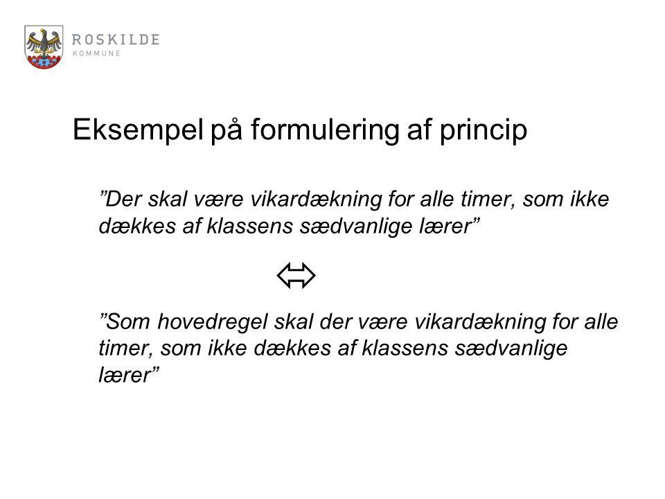 Eksempel på formulering af princip