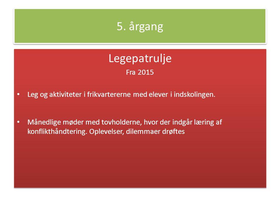 5. årgang Legepatrulje Fra 2015