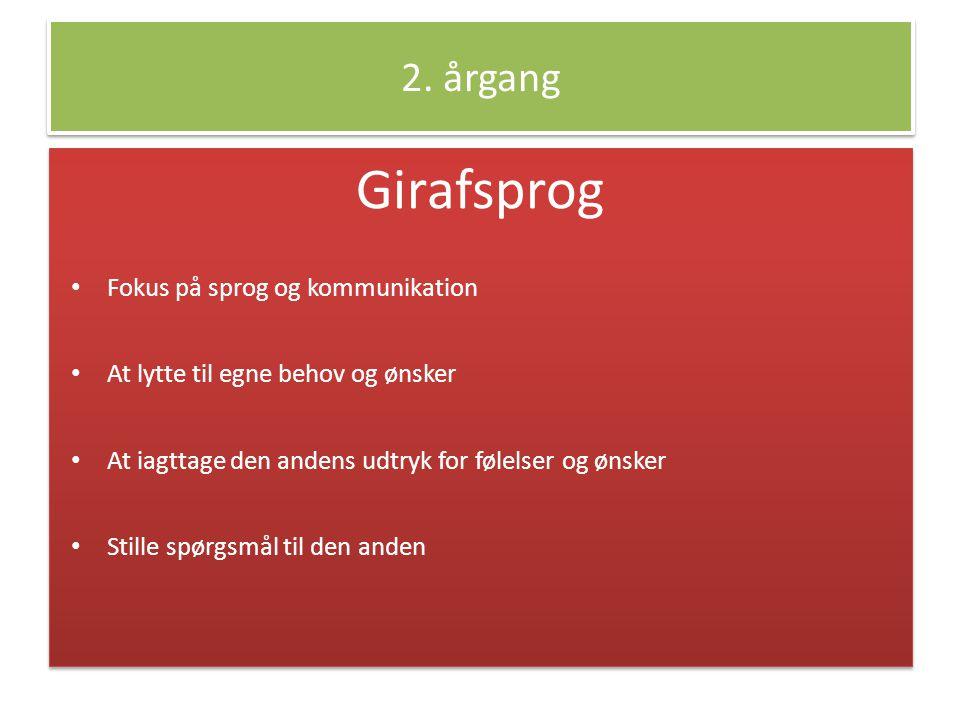 Girafsprog 2. årgang Fokus på sprog og kommunikation