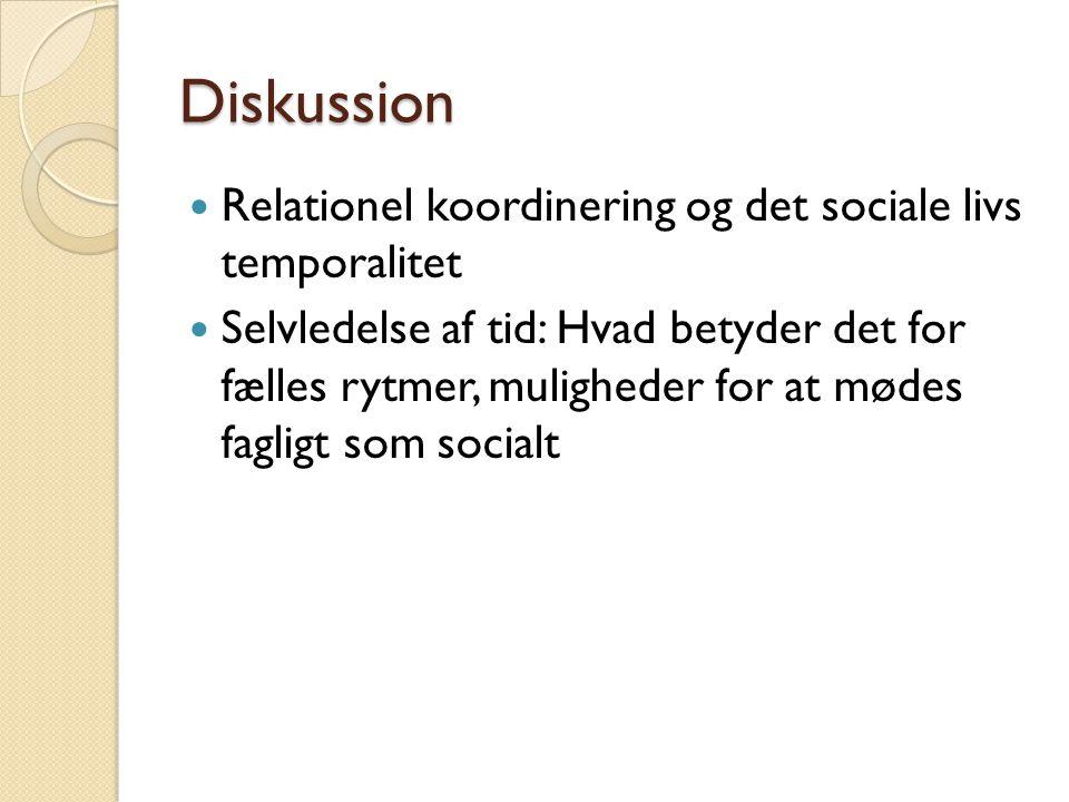 Diskussion Relationel koordinering og det sociale livs temporalitet