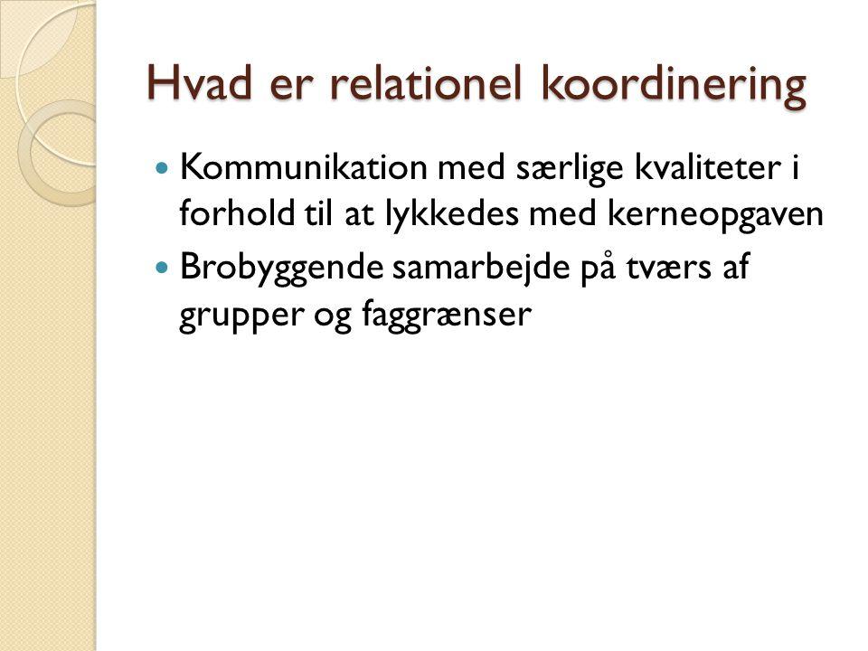 Hvad er relationel koordinering