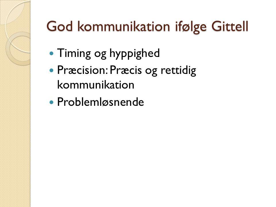 God kommunikation ifølge Gittell