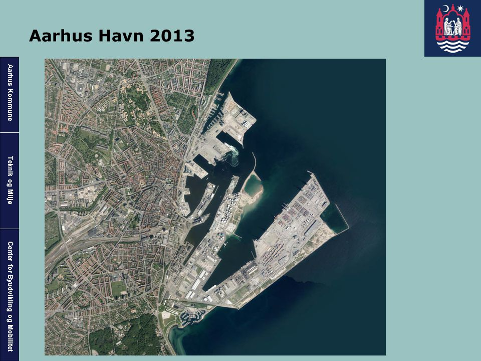 Aarhus Havn 2013 Aarhus Havn Ortofoto 2013. Opfyldning ved oliehavnen