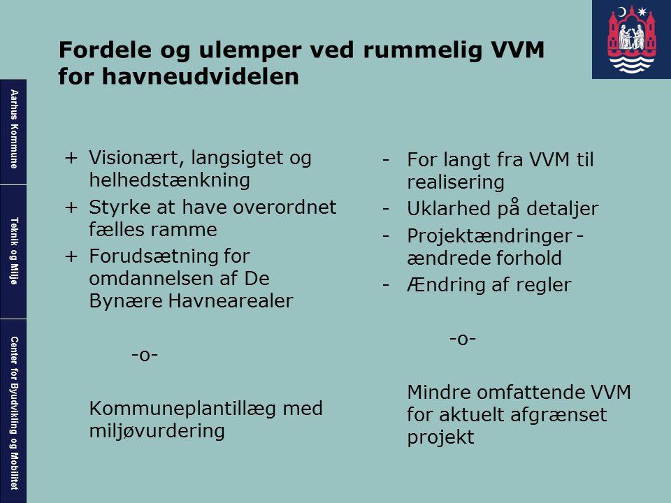 Fordele og ulemper ved rummelig VVM for havneudvidelen