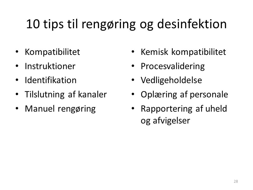 10 tips til rengøring og desinfektion