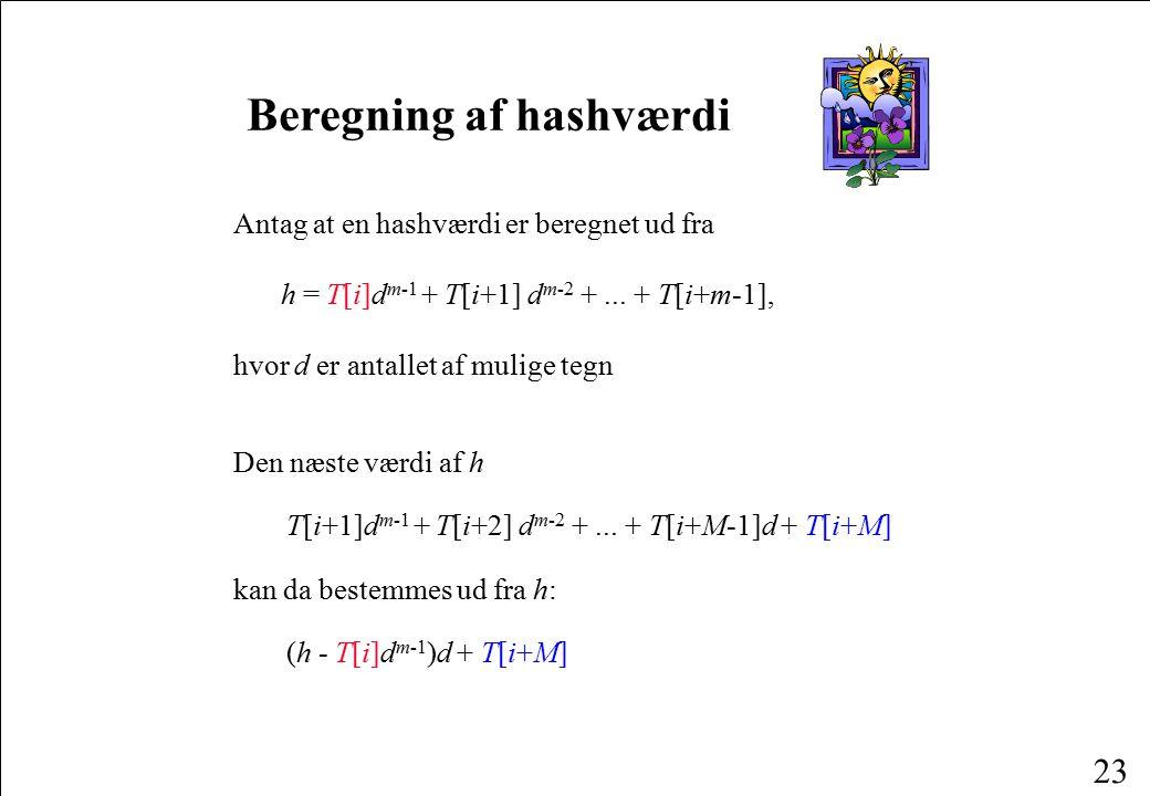 Beregning af hashværdi