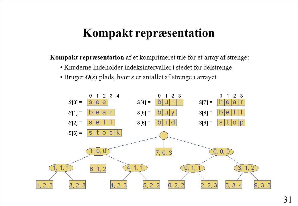 Kompakt repræsentation
