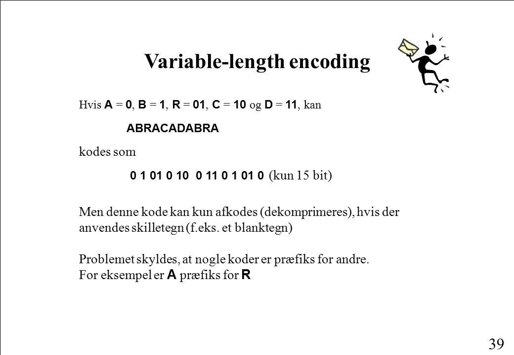 Variable-length encoding