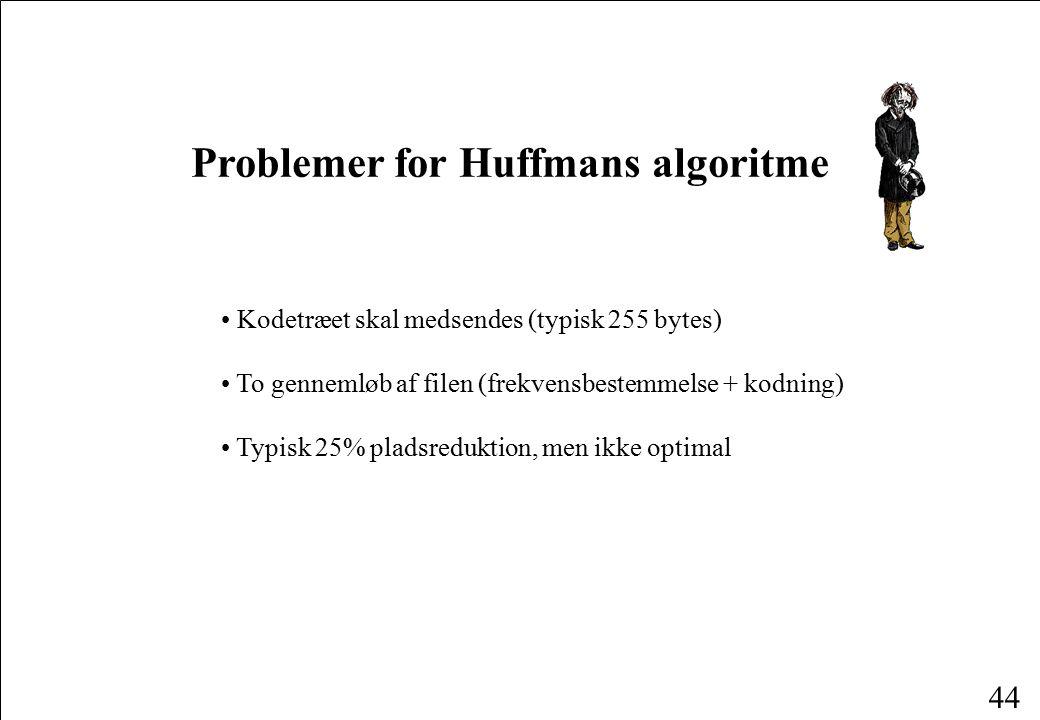 Problemer for Huffmans algoritme