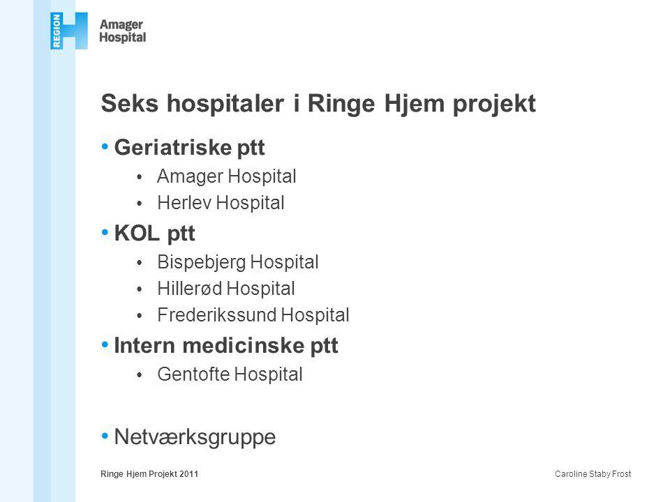 Seks hospitaler i Ringe Hjem projekt