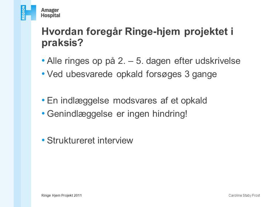 Hvordan foregår Ringe-hjem projektet i praksis