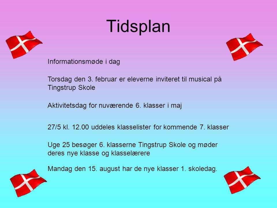 Tidsplan Informationsmøde i dag