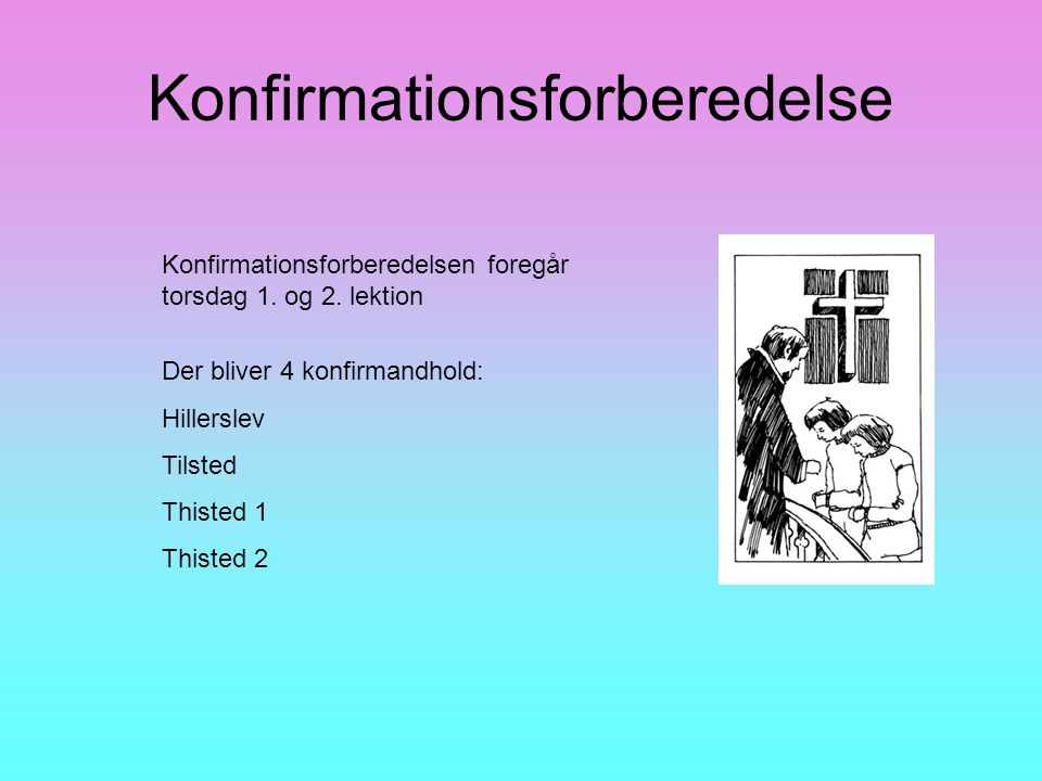 Konfirmationsforberedelse