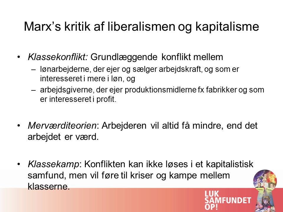 Marx's kritik af liberalismen og kapitalisme