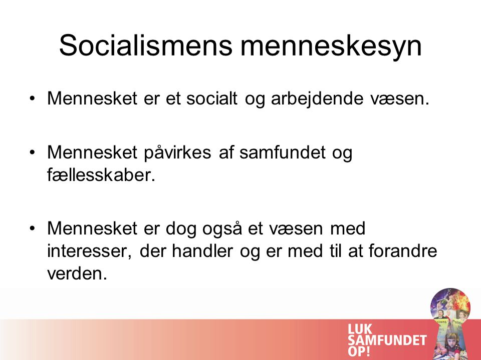 Socialismens menneskesyn