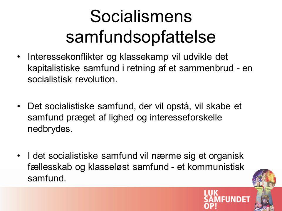 Socialismens samfundsopfattelse