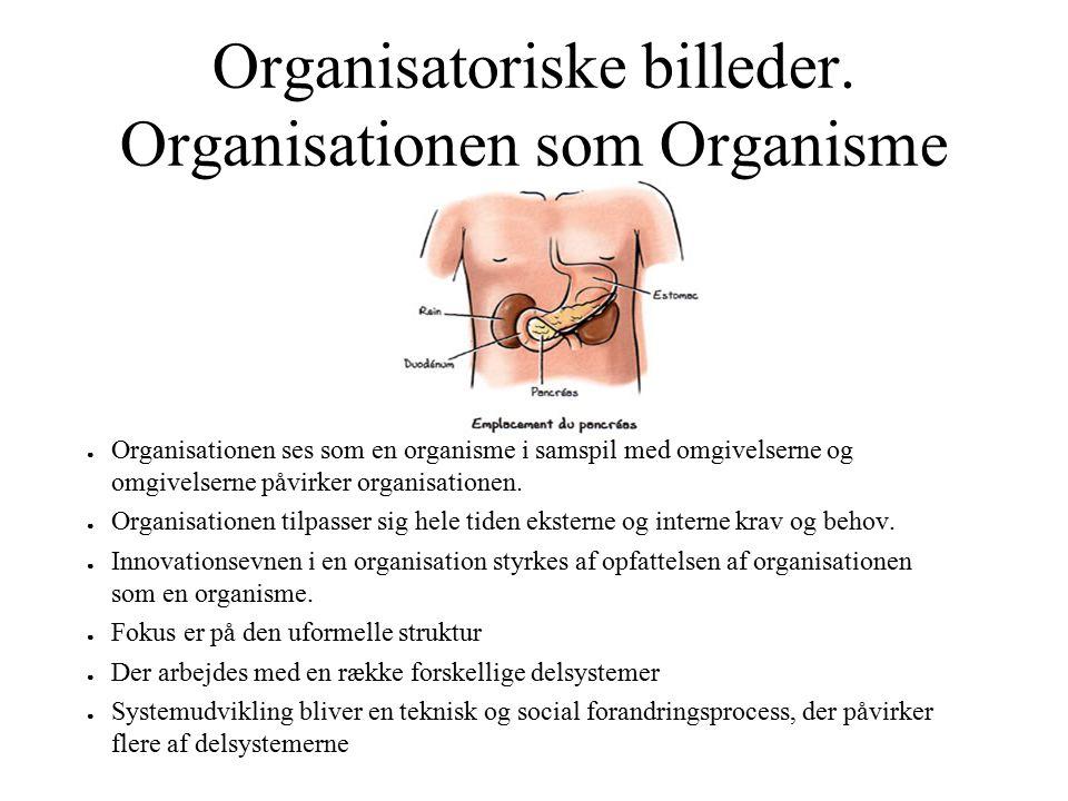 Organisatoriske billeder. Organisationen som Organisme
