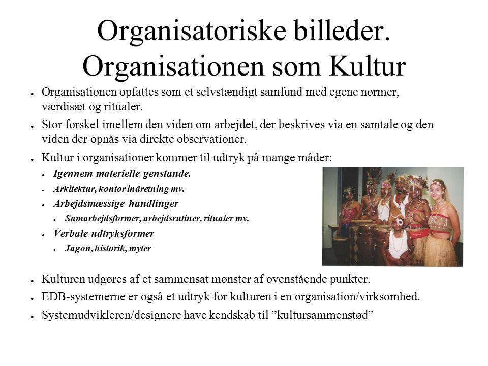 Organisatoriske billeder. Organisationen som Kultur
