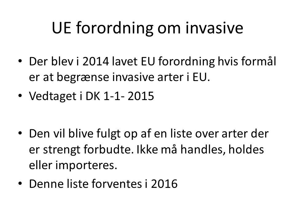 UE forordning om invasive