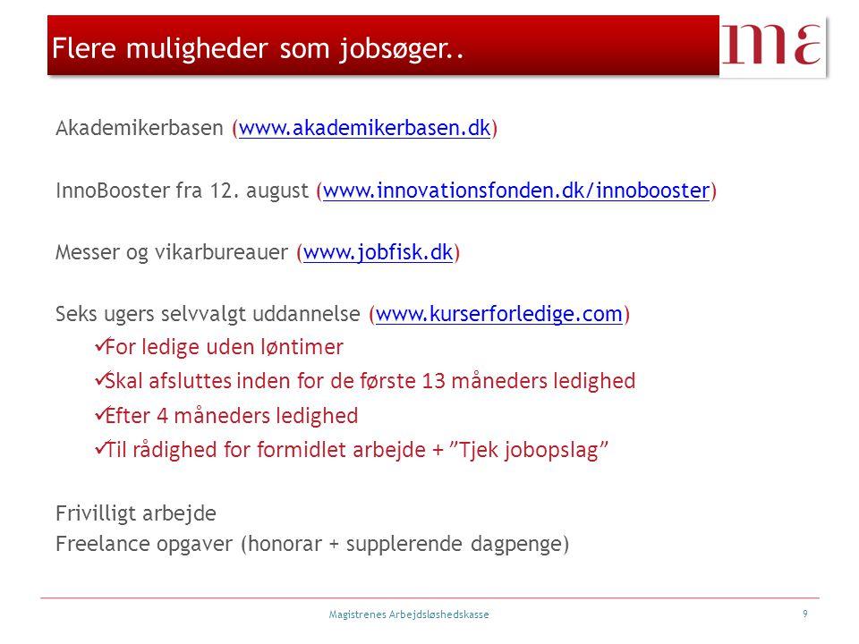 Flere muligheder som jobsøger..