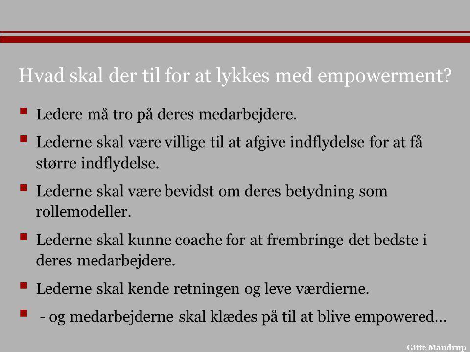 Hvad skal der til for at lykkes med empowerment