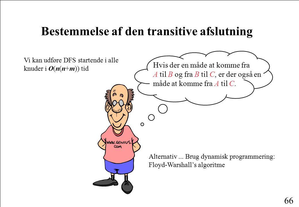 Bestemmelse af den transitive afslutning