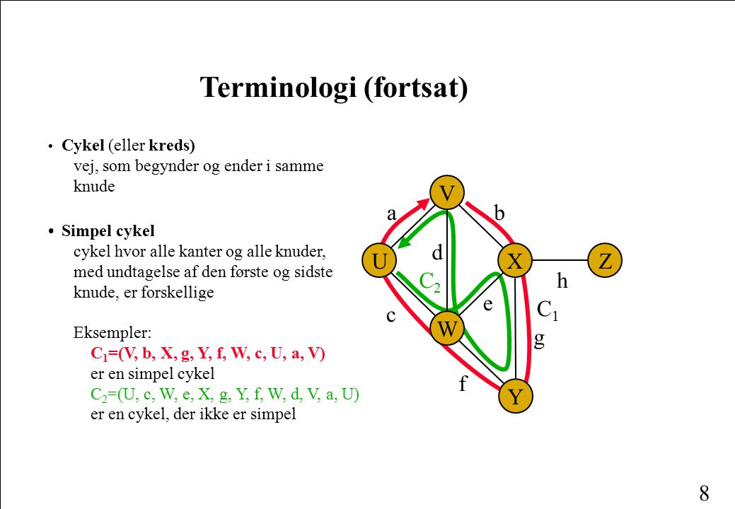 Terminologi (fortsat)