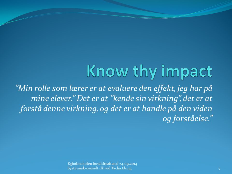 Know thy impact