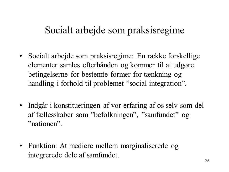 Socialt arbejde som praksisregime
