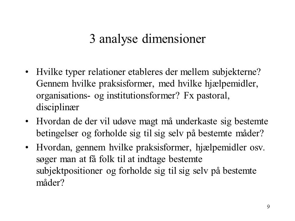 3 analyse dimensioner
